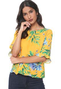 Blusa Lança Perfume Floral Amarela