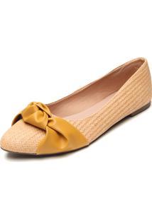 Sapatilha Dafiti Shoes Nó Amarela