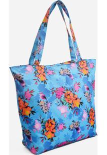 Bolsa Feminina De Praia Estampa Floral Clio