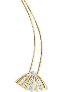 Pingente Ouro Amarelo E Diamantes 11 Mm
