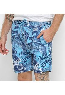 Short Nyc Norwich Yacht Club Palm Masculino - Masculino-Azul+Branco