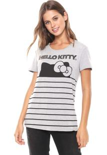 Blusa Cativa Hello Kitty Hotfix Cinza