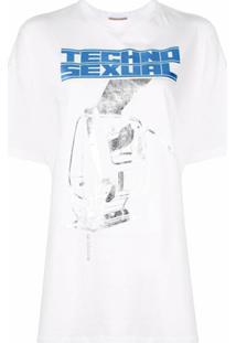 Christopher Kane Camiseta Com Estampa - Branco