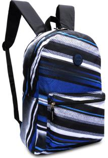 Mochila Bolsa Escolar Masculina Clio Style Azul
