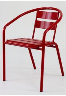 Cadeira Fun Em Aluminio Vermelha - 58360 - Sun House