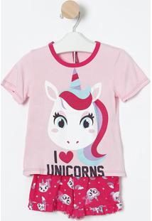"Short Doll ""I Love Unicorns""- Rosa Claro & Pink- Pukpuket"
