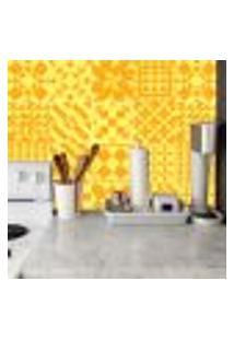 Adesivo De Azulejo Amarelo E Laranja 20X20Cm