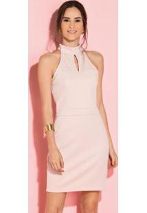 Vestido Com Gota Rosa Sem Mangas