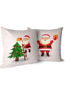 Kit 2 Capas Para Almofada Love Decors Decorativas Cute Papai Noel