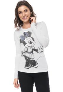 Blusa Cativa Disney Minnie Mouse Branca
