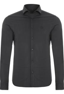 Camisa Masculina New Slim - Preto