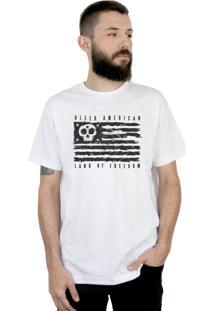 Camiseta Bleed American Land Of Freedom Branca