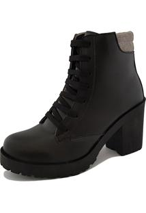 Bota Navit Shoes Tratorada Fosco Preto