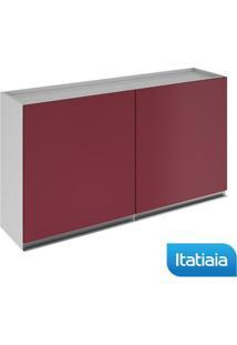 Módulo Cozinha Aéreo Clarice 2 Portas - Ip2-120 - Vermelho - Aço - Itatiaia