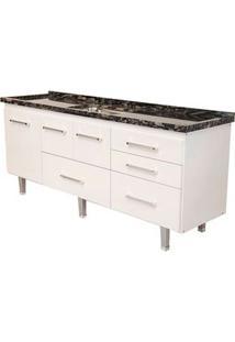 Gabinete De Cozinha New Life 197,4X55Cm Branco Bonatto