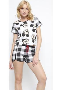 Short Doll Disney Mickey® - Preto & Brancoevanilda