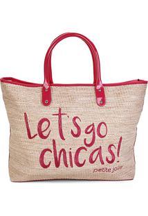 Bolsa Petite Jolie Shopper Sam Bag Feminina - Feminino-Vermelho