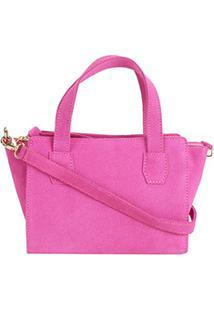 Bolsa Shoestock Mini Bag Tiracolo Camurça Feminina - Feminino-Pink