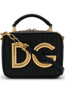 636c556ff Dolce & Gabbana Bolsa Tote Com Placa De Logo - Preto