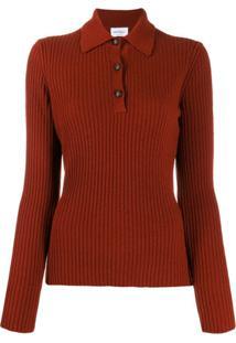 Salvatore Ferragamo Camisa Polo Mangas Longas - Vermelho