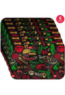 Jogo Americano Love Decor Wevans Mexican Kit Com 6 Pçs