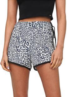 Short Hurley Leopard Cinza/Preto
