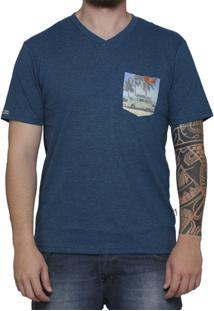Camiseta Vlcs Slim Fit Mind Gola V - Masculino