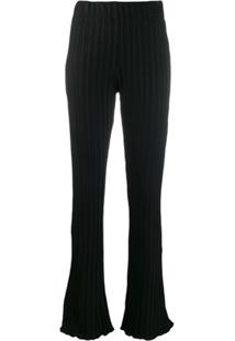 Simon Miller Flared Fitted Trousers - Preto