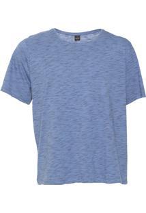 Camiseta Rovitex Plus Reta Azul/Preta