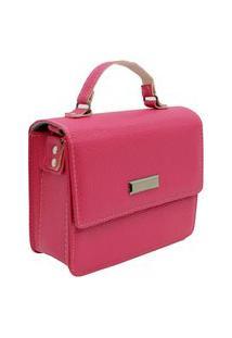 Bolsa Feminina Pequena Lateral Transversal Tiracolo Pink