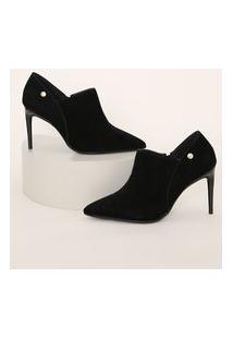 Ankle Boot Feminina Vizzano Salto Fino Alto Preta