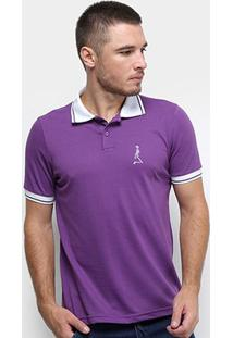 Camisa Polo Derek Ho Friso Caveira Masculina - Masculino-Roxo