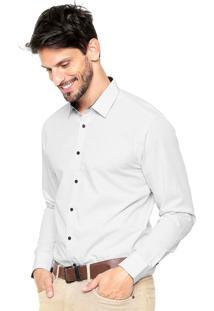 Camisa Vivacci Poá Branca