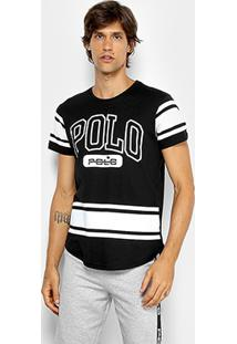 Camiseta Rg 518 Meia Malha Estampada Masculina - Masculino-Preto