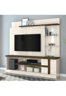 Estante Para Tv 1 Porta Alan 641122 Off White/Savana - Madetec