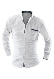 Camisa Masculina Estilo Fit Point Poás - Branco