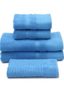 Jogo De Banho 5Pçs Buddemeyer Windsor Azul - Tricae