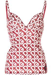 Dolce & Gabbana Underwear Blusa Clássica - Vermelho
