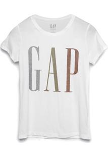 Camiseta Gap Logo Glitter Branca