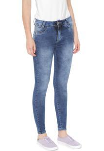 Calça Jeans Sawary Skinny Push Up Azul