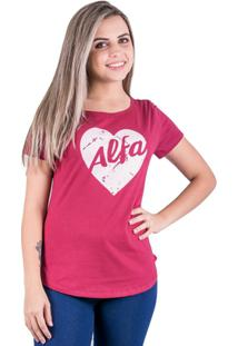 Camiseta Alfa Candy Hearth - Feminino
