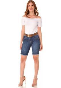 Bermuda Jeans Express Pedal Audrey Feminina - Feminino