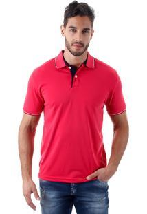 Camisa Polo Masculina Refined - Rosa