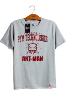 Camiseta Marvel Homem Formiga Tecnologias Pym - Unissex-Cinza