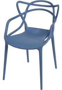 Cadeira Master Allegra Polipropileno Azul Petroleo - 47216 - Sun House