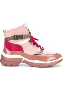 Hogl Ankle Boot Com Fivela - Rosa