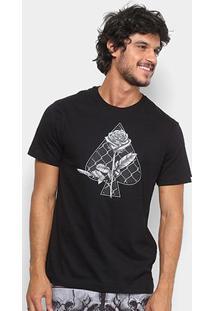 Camiseta Mcd Wire Fence Masculina - Masculino-Preto