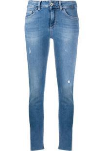 Liu Jo Mid Rise Slim Fit Jeans - Azul