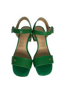 Sandália Casual Verde Cravo E Canela Multicolorido