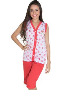 Pijama Linha Noite Pescador Vermelho